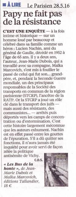 le Parisien 28 mai 2016